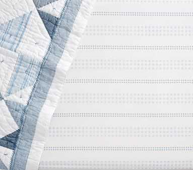 Rachel Ashwell Foulard Stripe Crib Fitted Sheet, Blue - Pottery Barn Kids