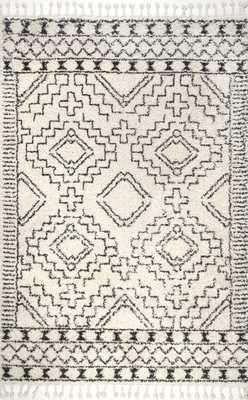 Vasiliki Moroccan Tribal Tassel Rug - Loom 23
