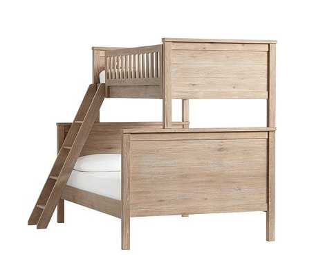 Charlie Bunk Bed, Twin over Full, Smoked Gray - Pottery Barn Kids