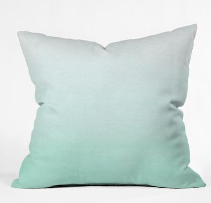MINT OMBRE Outdoor Throw Pillow - Wander Print Co.
