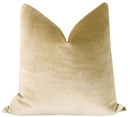 "Faux Silk Velvet // Champagne Pillow Cover - 20"" x 20"" - Little Design Company"