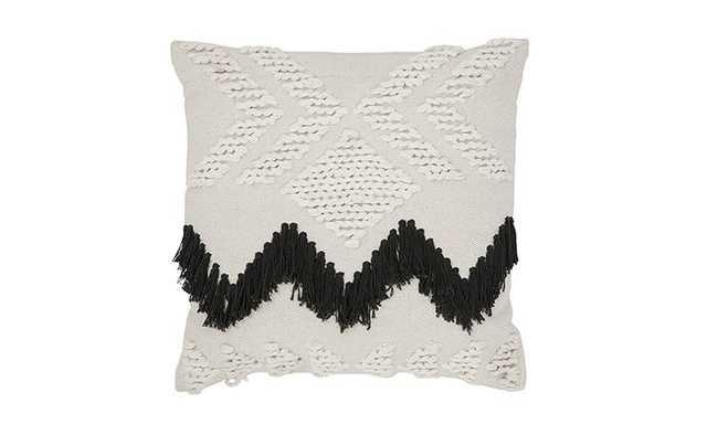 Fringe (Black) Pillow - Joybird