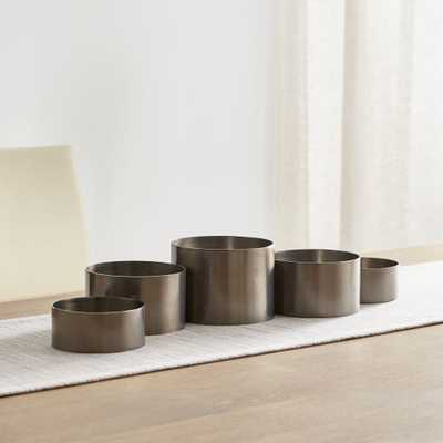 Links Pewter Centerpiece Pillar Candle Holder - Crate and Barrel