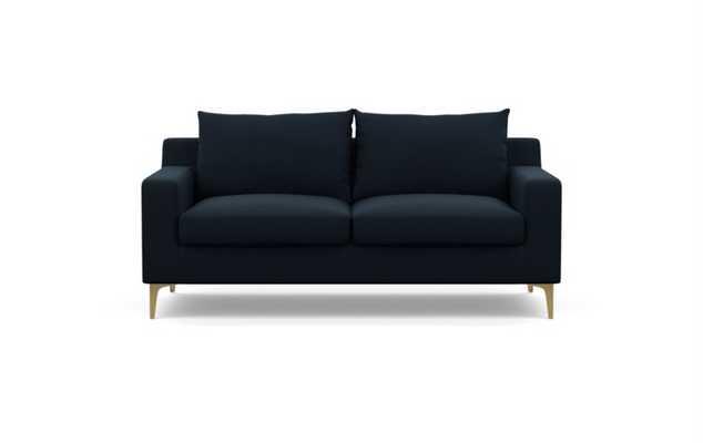 SLOAN - Midnight Blue Heavy Cloth w/ Brass Plated Leg - Interior Define