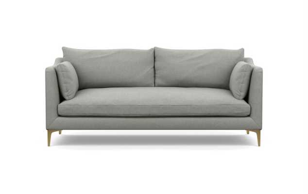 Caitlin by The Everygirl Sofa in Ecru Fabric with Brass Plated legs - Interior Define