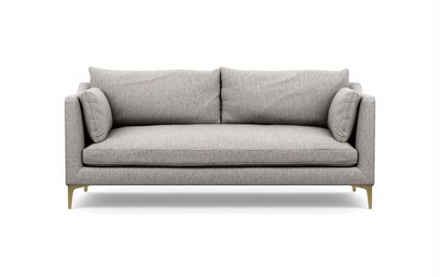Caitlin by The Everygirl Sofa in Earth Fabric with Brass Plated legs - Interior Define