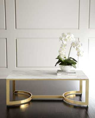 Marquis Marble Coffee Table - Horchow
