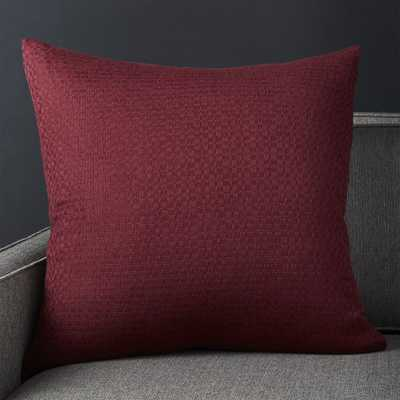 "Duram Wine Pillow with Down-Alternative Insert 23"" - Crate and Barrel"