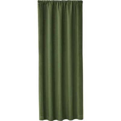 """Ezria Green Linen Curtain Panel 48""""x96"""" - Crate and Barrel"""