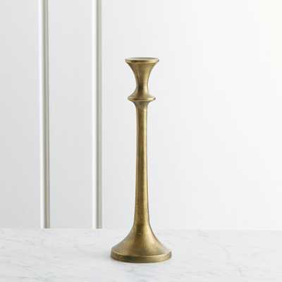 "Emmett Antique Brass Taper Candle Holder 11.75"" - Crate and Barrel"