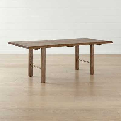 """Montana 82"""" Live Edge Dining Table - Crate and Barrel"""