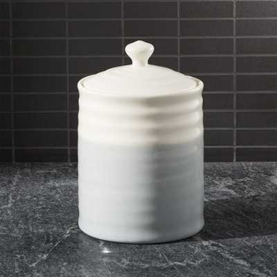 Grey Dip Medium Kitchen Canister - Crate and Barrel