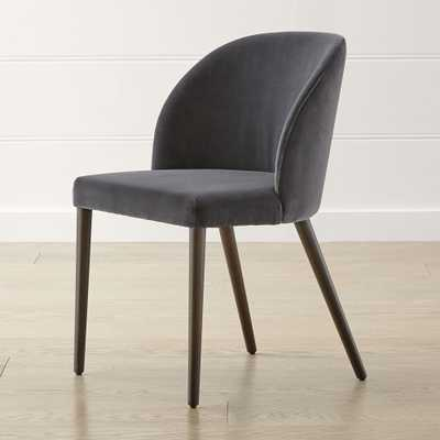 Camille Anthracite Italian Dining Chair - Crate and Barrel