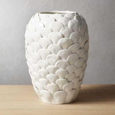 Ario White Vase - CB2