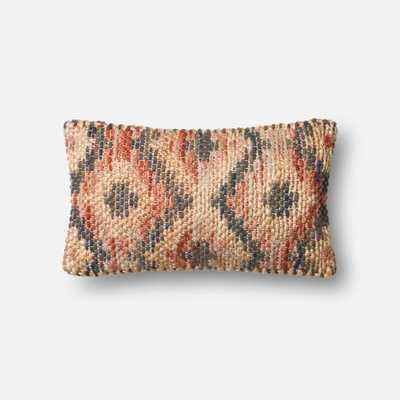 """PILLOWS - RED / BEIGE - 13"""" X 21"""" Cover w/Down - Loma Threads"""