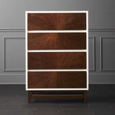 Ray Marquetry Tall Chest - CB2