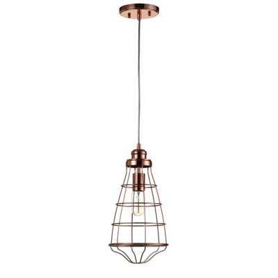 Safavieh Henni 1-Light Copper Pendant - Home Depot