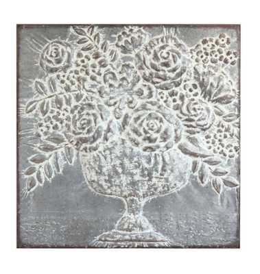 Square Metal Floral Bouquets Wall Décor - Nomad Home