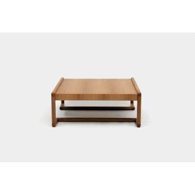 """ARTLESS Untitled Coffee Table with Tray Top Color: Walnut, Size: 16"""" H x 40"""" L x 40"""" W - Perigold"""