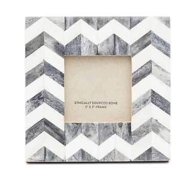 "Bodhi Bone Picture Frame, Gray, 3"" x 3"" - Pottery Barn"