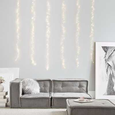 Waterfall String Lights, White - Pottery Barn Teen