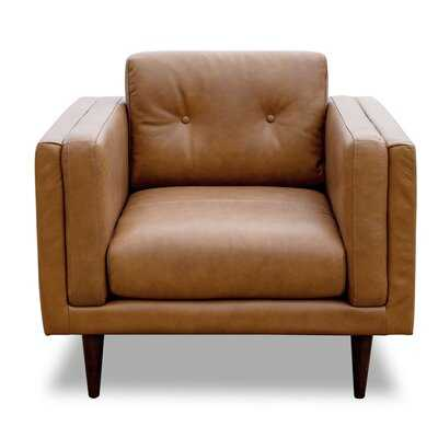 Jossi Genuine Leather Club Chair - Wayfair