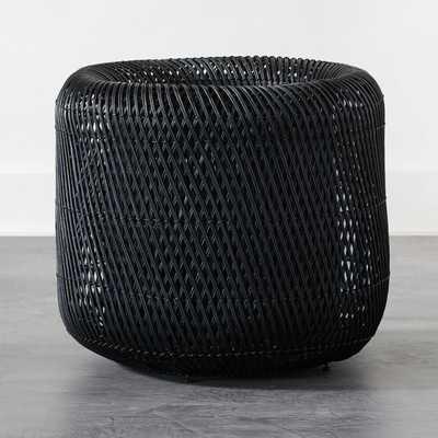 Twist Black Large Basket - CB2