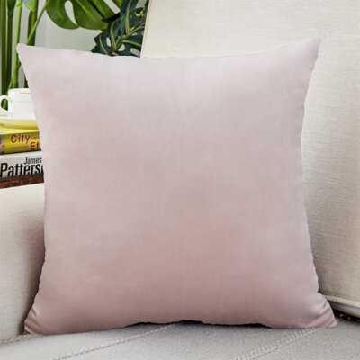 Solid Velvet Pillow Cover Velvet 18'' Throw Pillow Cover - Wayfair