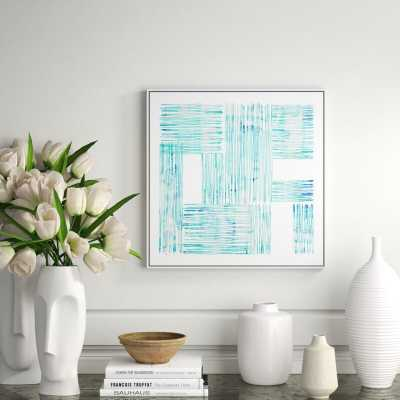 """JBass Grand Gallery Collection 'Between Lines II' Framed Graphic Art Print on Canvas Size: 41.75"""" H x 41.75"""" W x 1.5"""" D - Perigold"""
