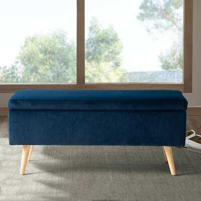 Valrie Upholstered Flip Top Storage Bench - Wayfair
