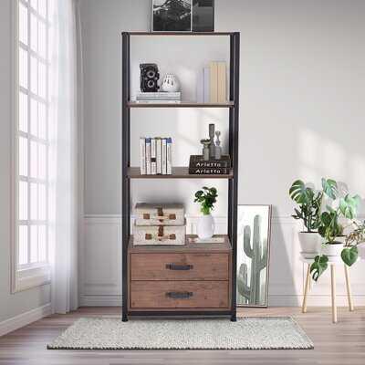 "Njall 60"" H x 24"" W Metal Standard Bookcase - Wayfair"