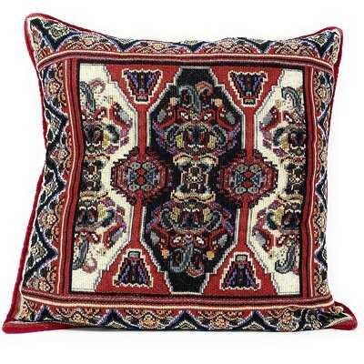 "Majestic Red Persian Rug Throw Pillow Covers 2-pieces - 18"" X 18"" - Wayfair"