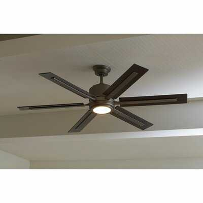 """60"""" Lesure 6 - Blade LED Standard Ceiling Fan with Remote Control and Light Kit Included - Birch Lane"""