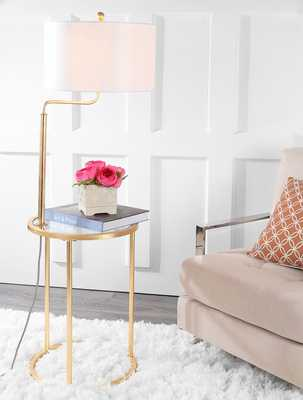 Crispin Floor Lamp Side Table - - Arlo Home - Arlo Home