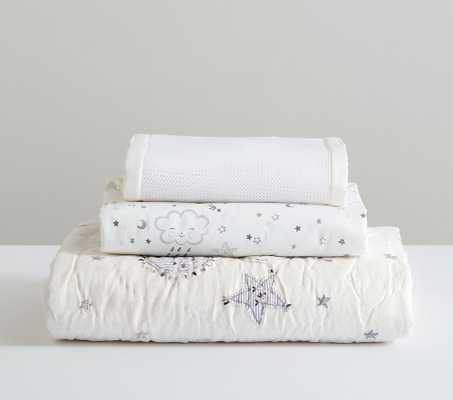 Skye Quilt Set with Organic Skye Fitted Crib Sheet and White Mesh Liner - Pottery Barn Kids
