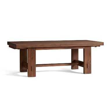 Menlo Reclaimed Wood Extending Dining Table, Camden Teak - Pottery Barn