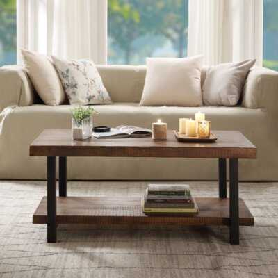 Nissequogue 4 Legs Coffee Table with Storage - Wayfair