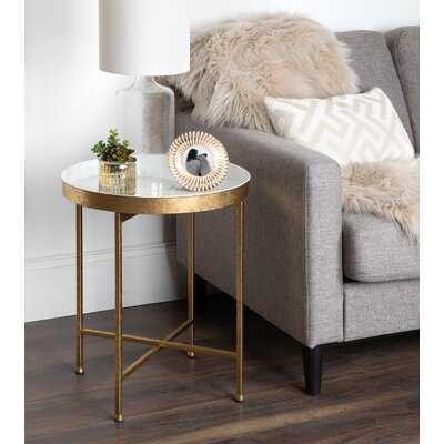 Dishman Tray Top Cross Legs End Table - Wayfair