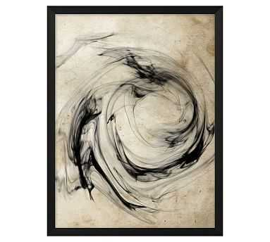"Smoke Swirl 2 Framed Print, 16"" x 21"" - Pottery Barn"
