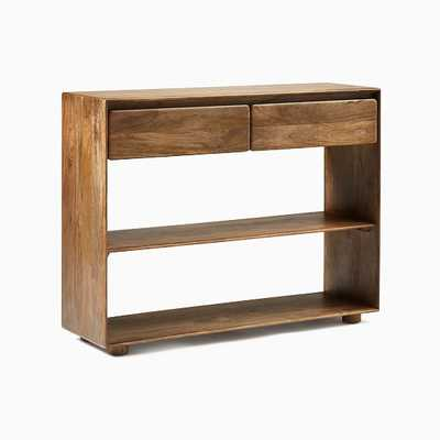 Anton Solid Wood Storage Console, Burnt Wax - West Elm