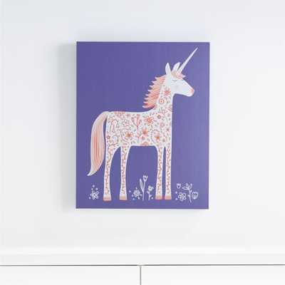 Unicorn Canvas Wall Art - Crate and Barrel