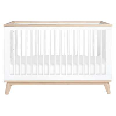 Scoot 3-in-1 Convertible Crib Color: White/Washed Natural - Perigold