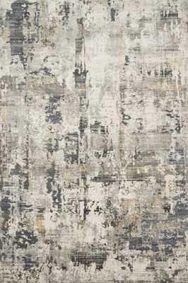 "Loloi Cascade CAS-04 Ivory / Natural 3'-7"" x 5'-7"" - Loma Threads"