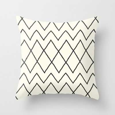 "Avoca In Cream Couch Throw Pillow by Becky Bailey - Cover (16"" x 16"") with pillow insert - Outdoor Pillow - Society6"