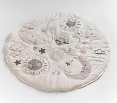 Skye Moon & Stars Muslin Travel Play Mat - Pottery Barn Kids