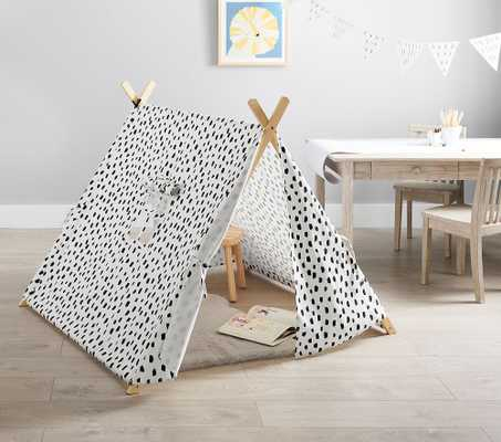 Collapsible Play Tent, Snow White/Jet Black, UPS - Pottery Barn Kids