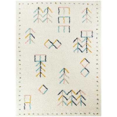 BALTA Sarita Tribal Shag White 8 ft. x 10 ft. Area Rug - Home Depot