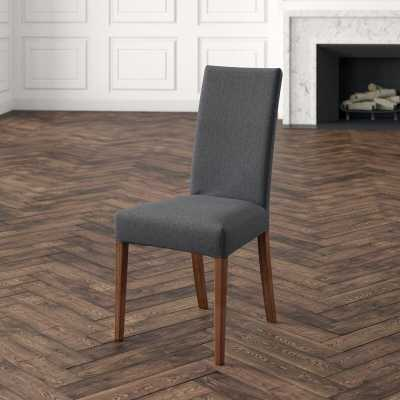 Connubia Copenhagen Upholstered Dining Chair Upholstery Color: Smoke Gray, Leg Color: Walnut - Perigold