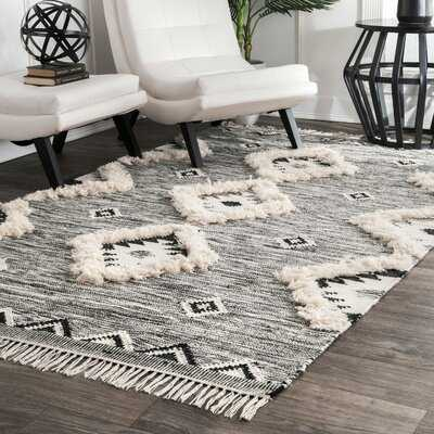 Luciana Hand-Knotted Wool Gray Area Rug - AllModern