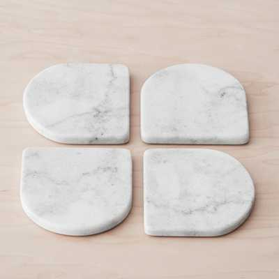 Puebla Marble Coasters - Arch - Set of 4 By The Citizenry - The Citizenry